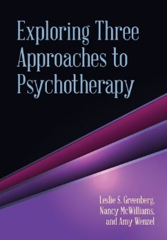 Exploring Three Approaches to Psychotherapy book cover