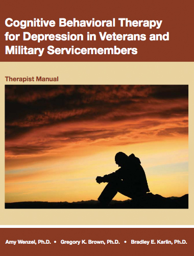 Cognitive Behavioral Therapy for Depressed Veterans and Military Servicemembers book cover
